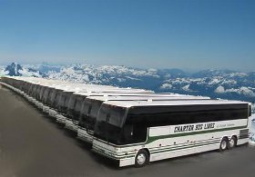 We provide bus service to conventions